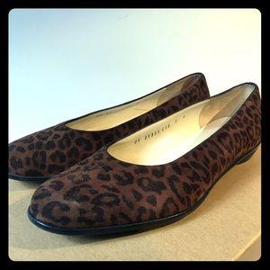 Salvatore ferragamo cheetah flats size 9